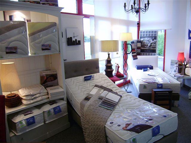 L'espace literie de la boutique EK Déco à Holtzwihr